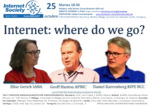 Conferencia ISOC-ES: Elise Gerich (IANA), Daniel Karrenberg (RIPE NCC) y Geoff Huston (APNIC)